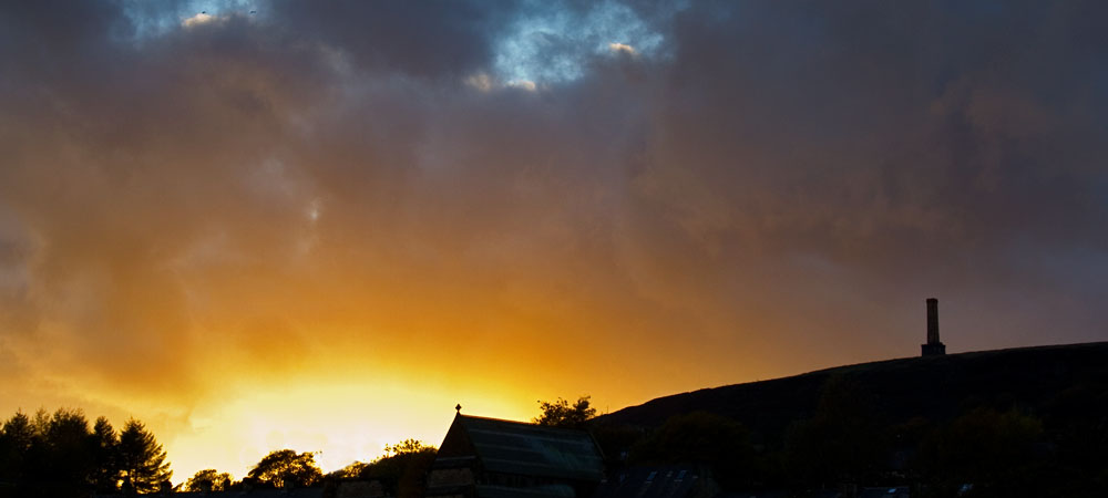 photoblog image Sunset at Ramsbottom