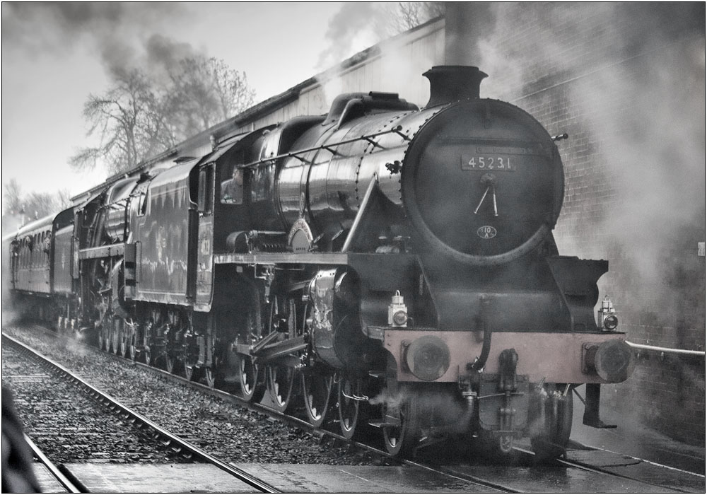 photoblog image The Sherwood Forester leading a 9F