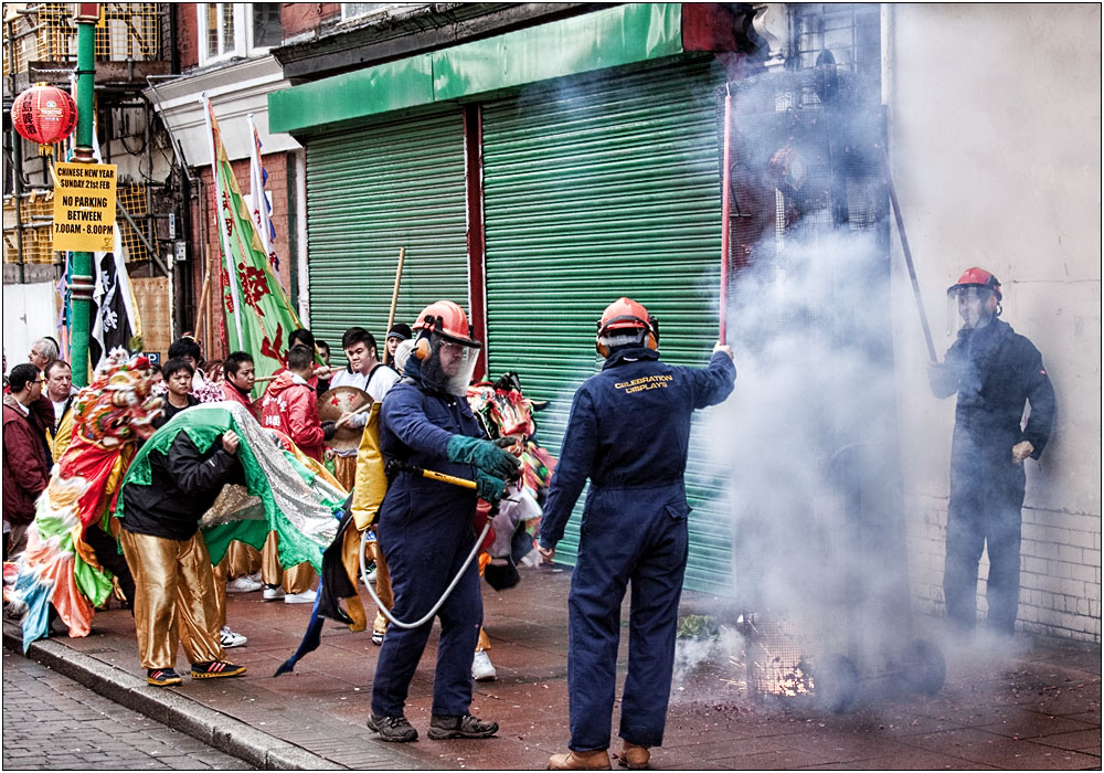 photoblog image Firecrackers, the Health and Safety way