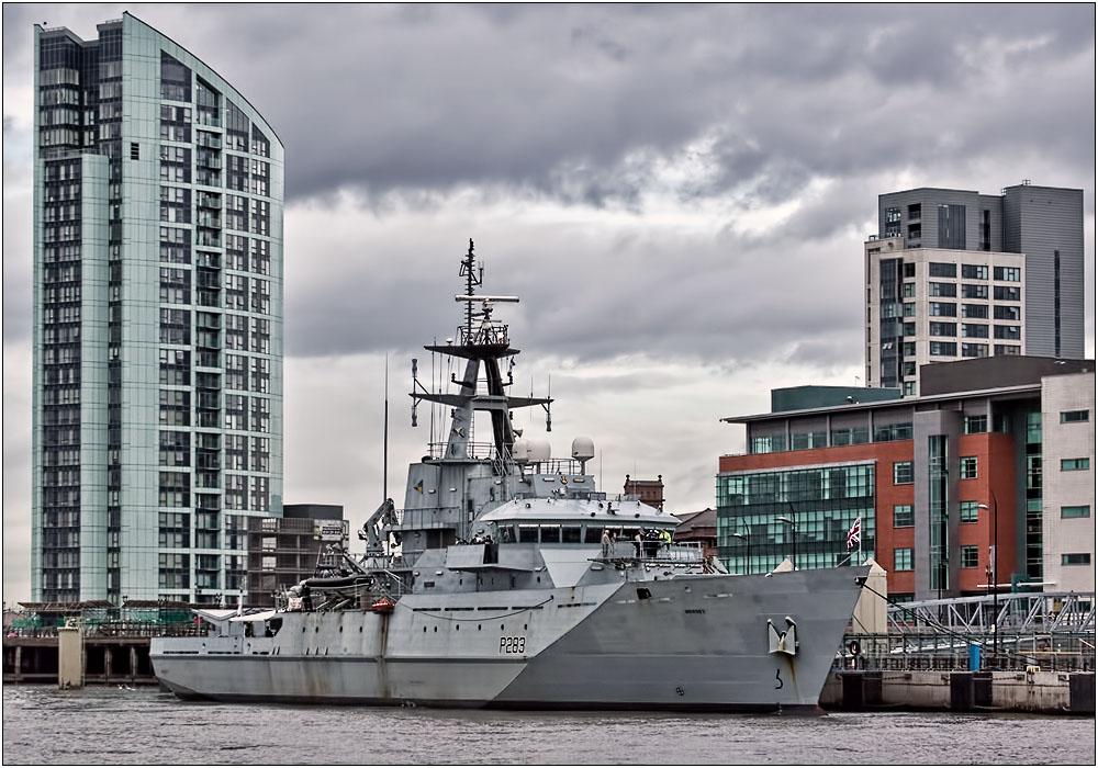photoblog image HMS Mersey on the Mersey