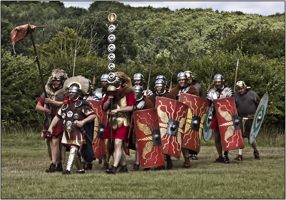 photoblog image The Romans now arriving
