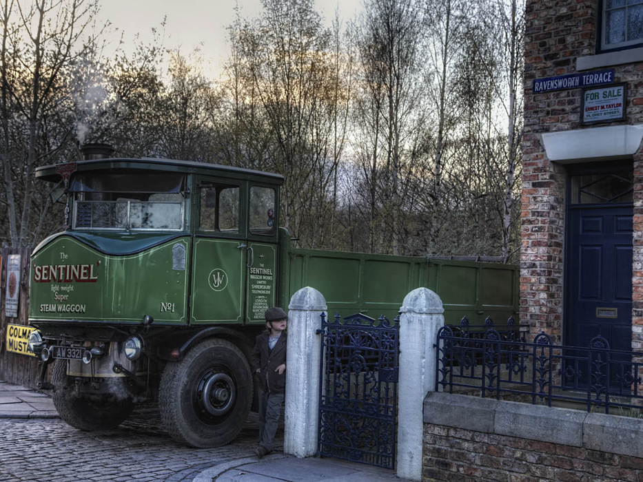 photoblog image Sentinel Steam Lorry with Minder