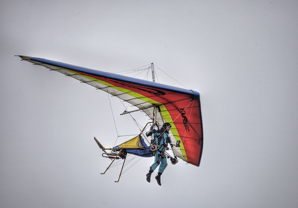 photoblog image A Powered Hang Glider
