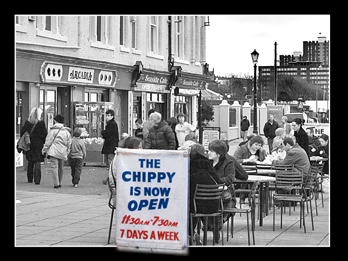 photoblog image Fish and Chips Dinner