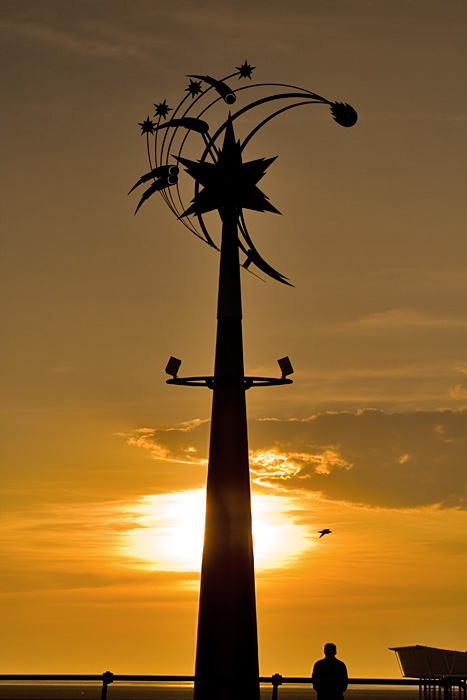 photoblog image Just a Wind Chime Sculpture at Sunset